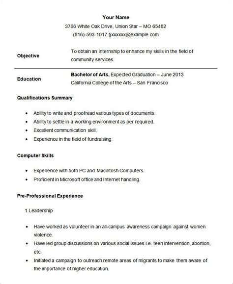 Chronological Resume College Student by Best 25 Student Resume Ideas On Resume Help