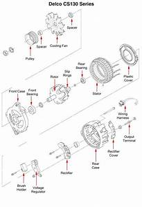 Gm Alternator Parts Diagram  Gm  Free Engine Image For