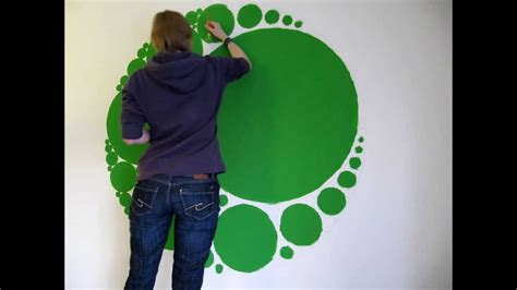 Wall Painting Stencils Youtube Timelapse Circle Fractal Wall Painting Youtube