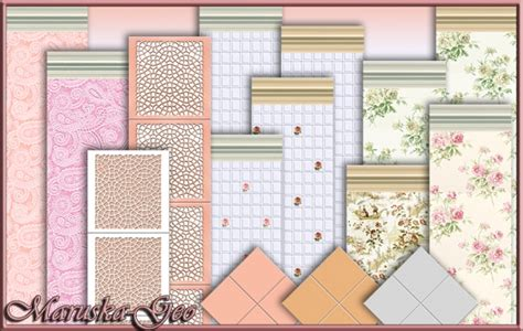 shabby chic kitchen wall tiles wallpaper and floor tiles for shabby chic kitchen at maruska geo 187 sims 4 updates