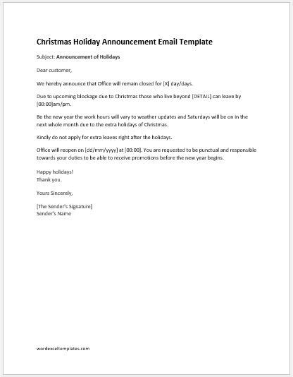 email template to announce your new announcement letters ms word format formal word templates
