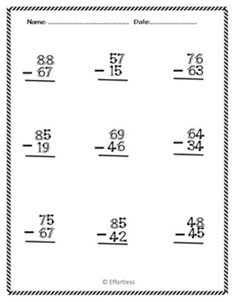 touch math digit addition worksheet touch math subtraction worksheets digit with and