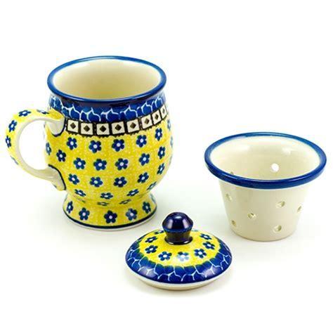Polish Art Center   Polish Pottery Stoneware Herbal Cup