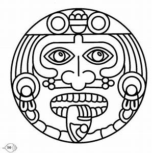 mayan mask coloring pages With aztec mask template