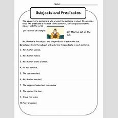 Subject And Predicate Worksheet  Mr Morton By Kelly Malloy  Teachers Pay Teachers