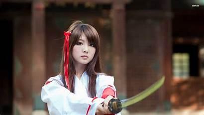 Samurai Japanese Sword Katana Wallpapers 1920 Woman