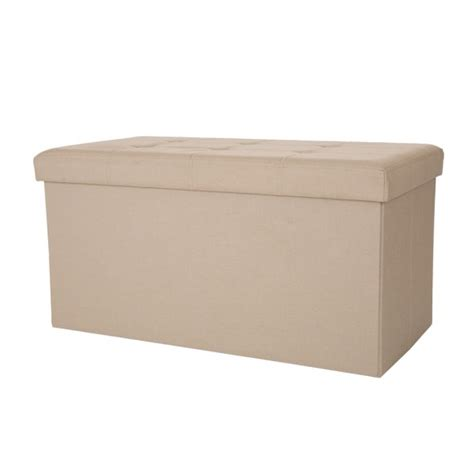 Padded Ottoman Storage Bench by Official Glitzhome Foldable Linen Storage Ottoman Bench