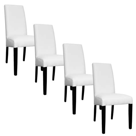 lot 4 chaises blanches deco in lot de 4 chaises blanche muka muka x4 blanc