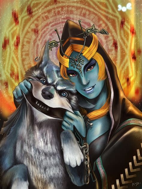 Midna And Link On Ocarina Of Twilight Deviantart