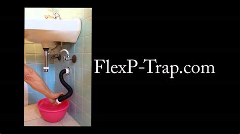 flexible plumbing p trap  youtube