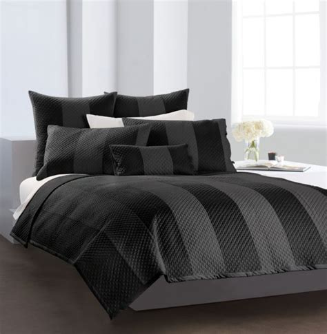 donna karan silk quilt black is back dkny s sophisticated bedding collections
