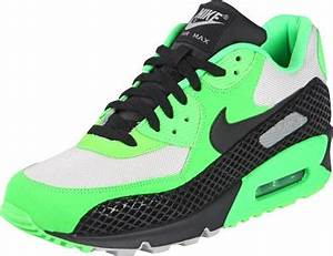 Nike Air Max 90 Premium shoes neon green black