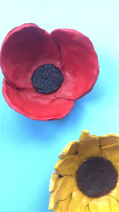 diy sunflower clay bowls video clay projects  kids
