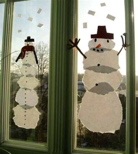 Fensterbilder Weihnachten Basteln Kindergarten by Riesen Schneem 228 Nner Als Fensterbild Grundschulkunst