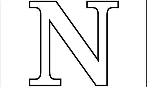 printable  letter  coloring page letter nn pinterest