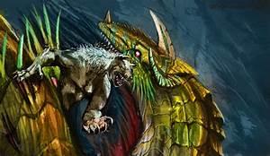 Werewolf v8 vs Dragon By Decadia by V8Arwing67 on DeviantArt