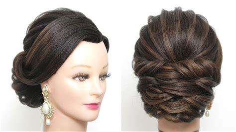 bridal hairstyle wedding updo tutorial  long hair