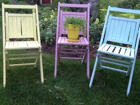 vintage folding chairs painted chair wooden chair
