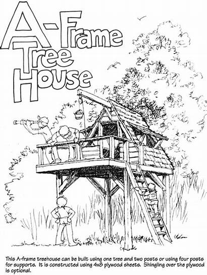 Frame Treehouse Dream Diy Roof Self Tarp