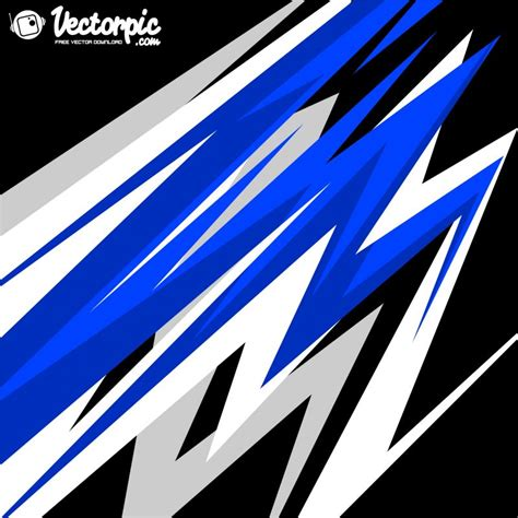 Blue Line Stripes Racing Background Free Vector