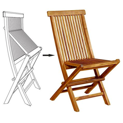 chaise en teck pliante chaises pliante en teck huilé meuble de jardin