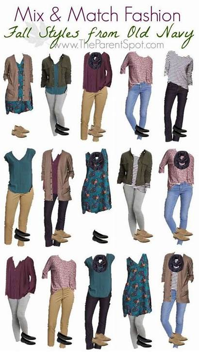 Outfits Match Mix Fall Navy Casual Wardrobe