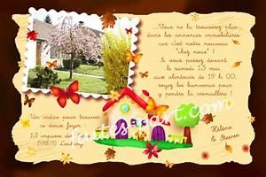 Pendaison De Crémaillère Invitation : exemple invitation cr maill re tz16 jornalagora ~ Melissatoandfro.com Idées de Décoration