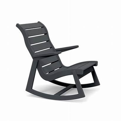 Rocker Rocking Chair Modern Outdoor Rapson Grey