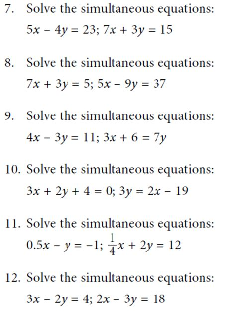 simultaneous linear equations learn mathematics online
