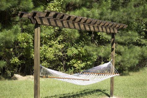 build  diy pergola hammock stand