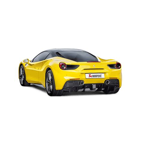 Most of the equipment in the 2019 ferrari 488 gtb, 488 spider and 488 pista is focused on extracting and exploiting the capabilities lying within the engine. Akrapovic Slip-On Line for Ferrari 488 GTB/Spider 2016