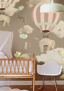 Colored wallpapers for children s room with fun motifs
