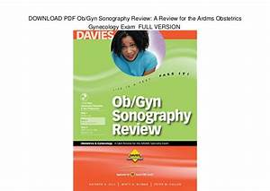 Download Pdf Ob  Gyn Sonography Review  A Review For The