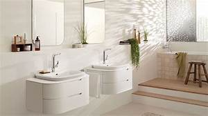 salle de bain zen beige et blanche With carrelage blanc brillant salle de bain