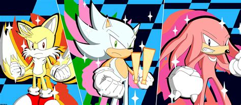 Hyper Sonic, Super Tails, and Hyper Knuckles ready to do a ...