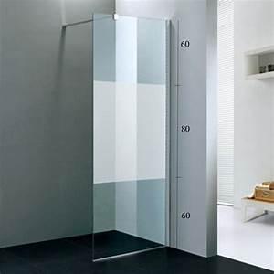 Paroi Douche Verre Sablé : paroi de douche fixe tana pour la salle de bains verre 8 ~ Premium-room.com Idées de Décoration