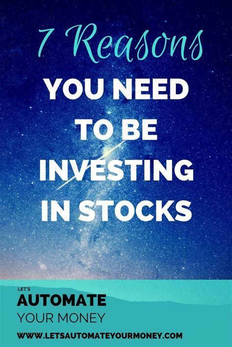 reasons     investing  stocks investing