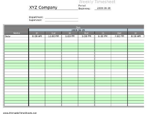 weekly multiple employee timesheet  work periods