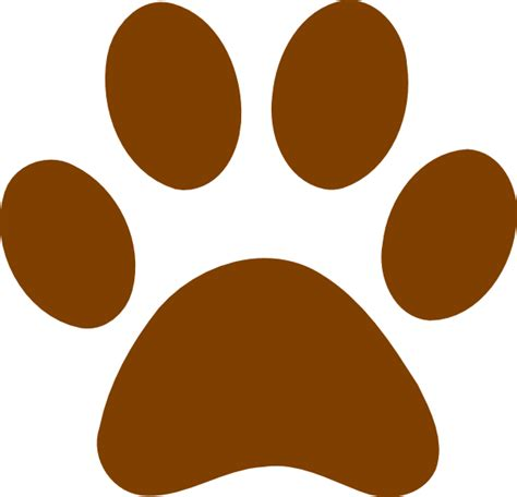 Brown Bear Paw Prints Clip Art