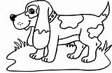 Coloring Hound Basset Dogs Via sketch template