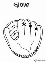 Glove Baseball Coloring Clipart Printable Pages Sketch Drawing Kid Clip Mitt Template Gloves Easy Sport Pencil Obj Drawn Gateau Transparent sketch template