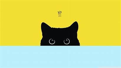 Simple Desktop Backgrounds Cat Wallpapers Mobile Minimalism