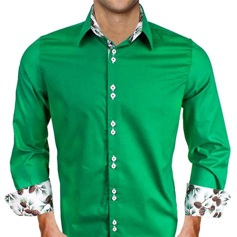 mens designer dress shirts green dress shirts