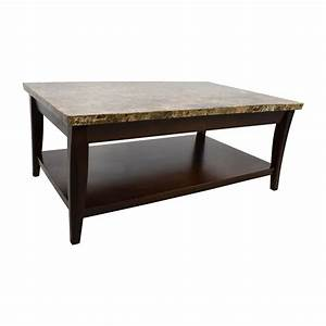 71 off marble and wood coffee table tables With wood and stone coffee table