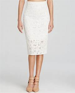 White Lace Pencil Skirt: Rebecca Taylor Skirt Lace Pencil