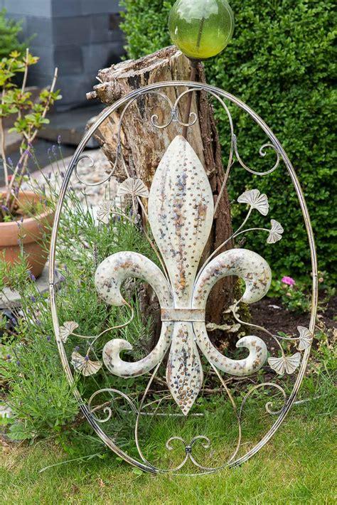 wanddekoration lilie fenster 82cm metall deko garten terrasse wall decoration aubaho
