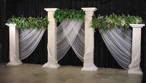 Grecian Columns And Draping For Stage Decor Summer