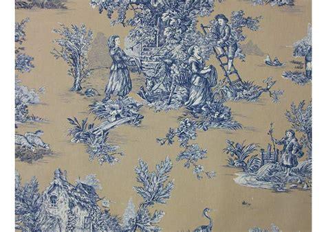 canapé imprimé tissu 100 coton motif toile de jouy