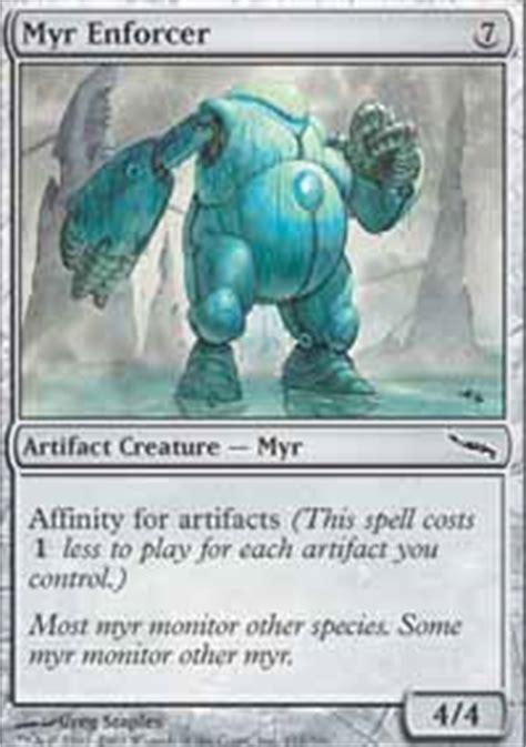 Myr Deck Mtg Tappedout by Myr Enforcer Mirrodin Magic The Gathering