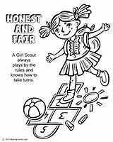 Coloring Law Scout Daisy Scouts Honest Fair Petal Leader Mom sketch template